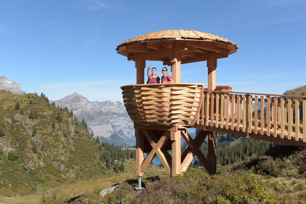 Wildbeobachtungsposten auf dem Oberstafel im Freiberg Kärpf